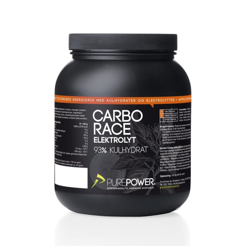 PurePower Carbo Race Elektrolyt Appelsin 1,5kg