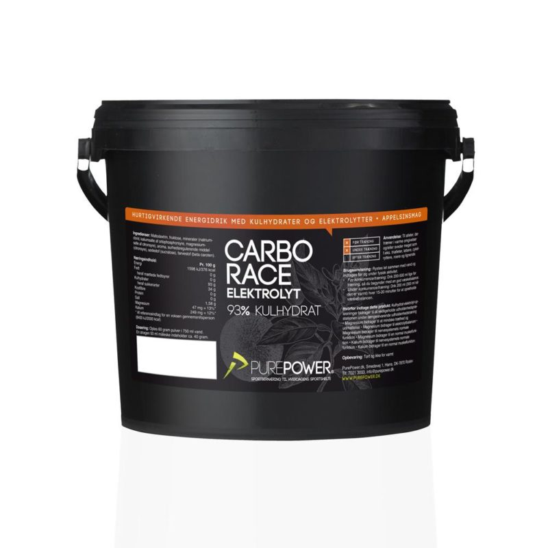 PurePower Carbo Race Elektrolyt Appelsin 3kg