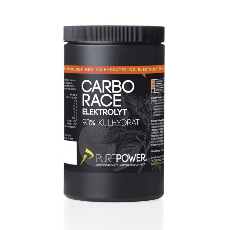 PurePower Carbo Race Elektrolyt Appelsin 500g