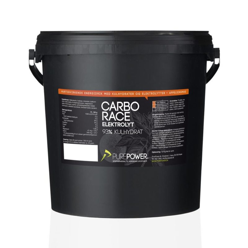 PurePower Carbo Race Elektrolyt Appelsin 5kg