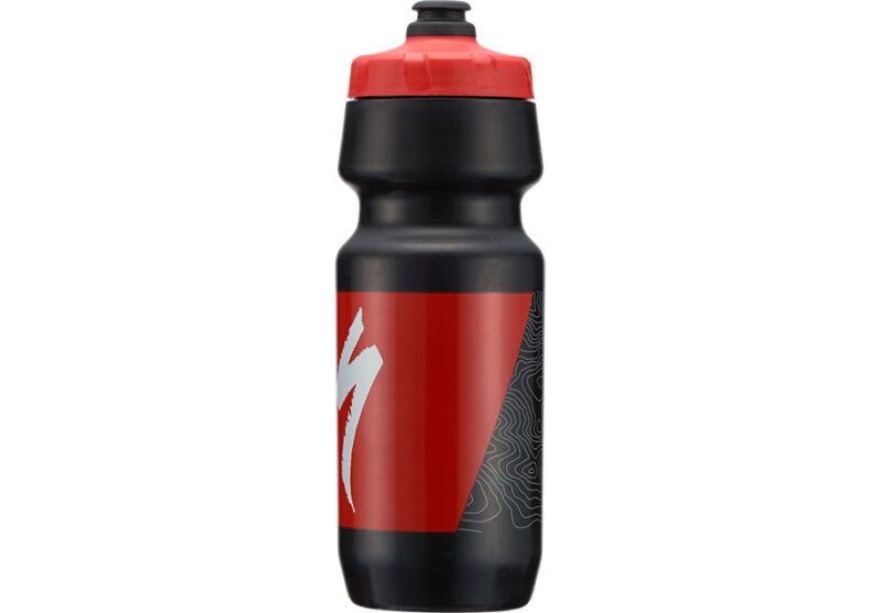 Specialized BIG MOUTH 24OZ Black/Red Topo Block